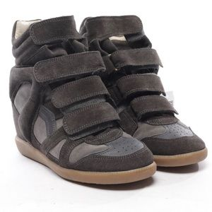 Isabell Marant Dark Gray suede sneakers 37